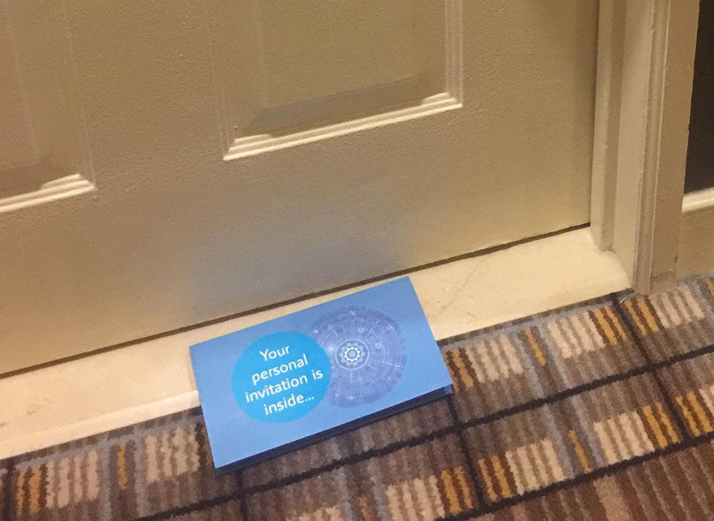 Door drop example