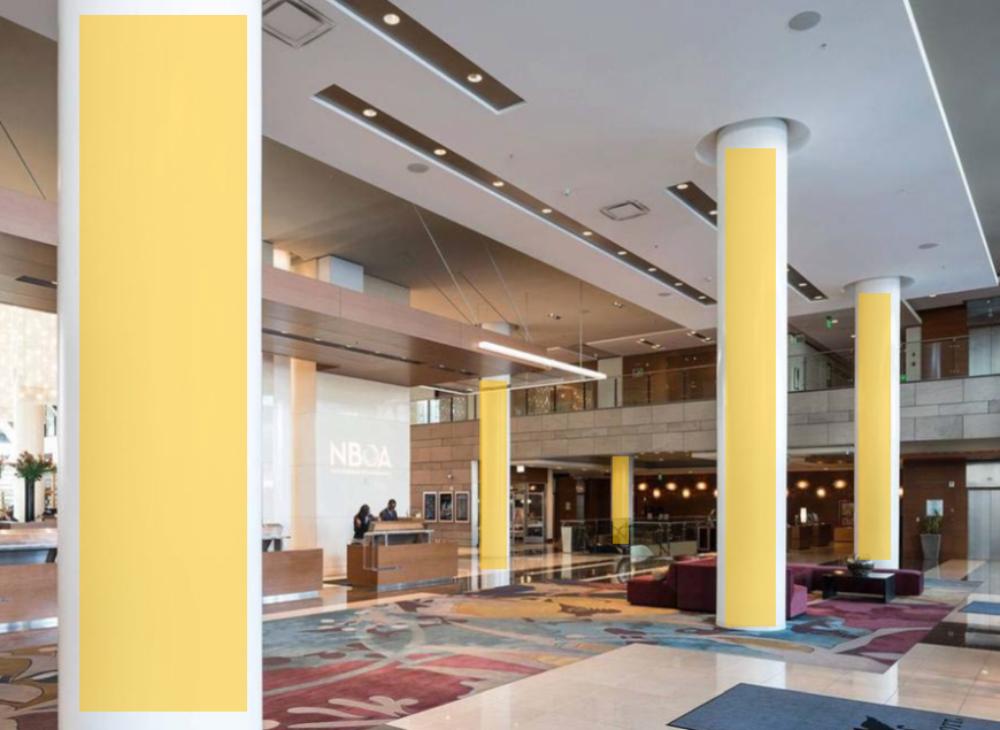 Lobby Column Wraps
